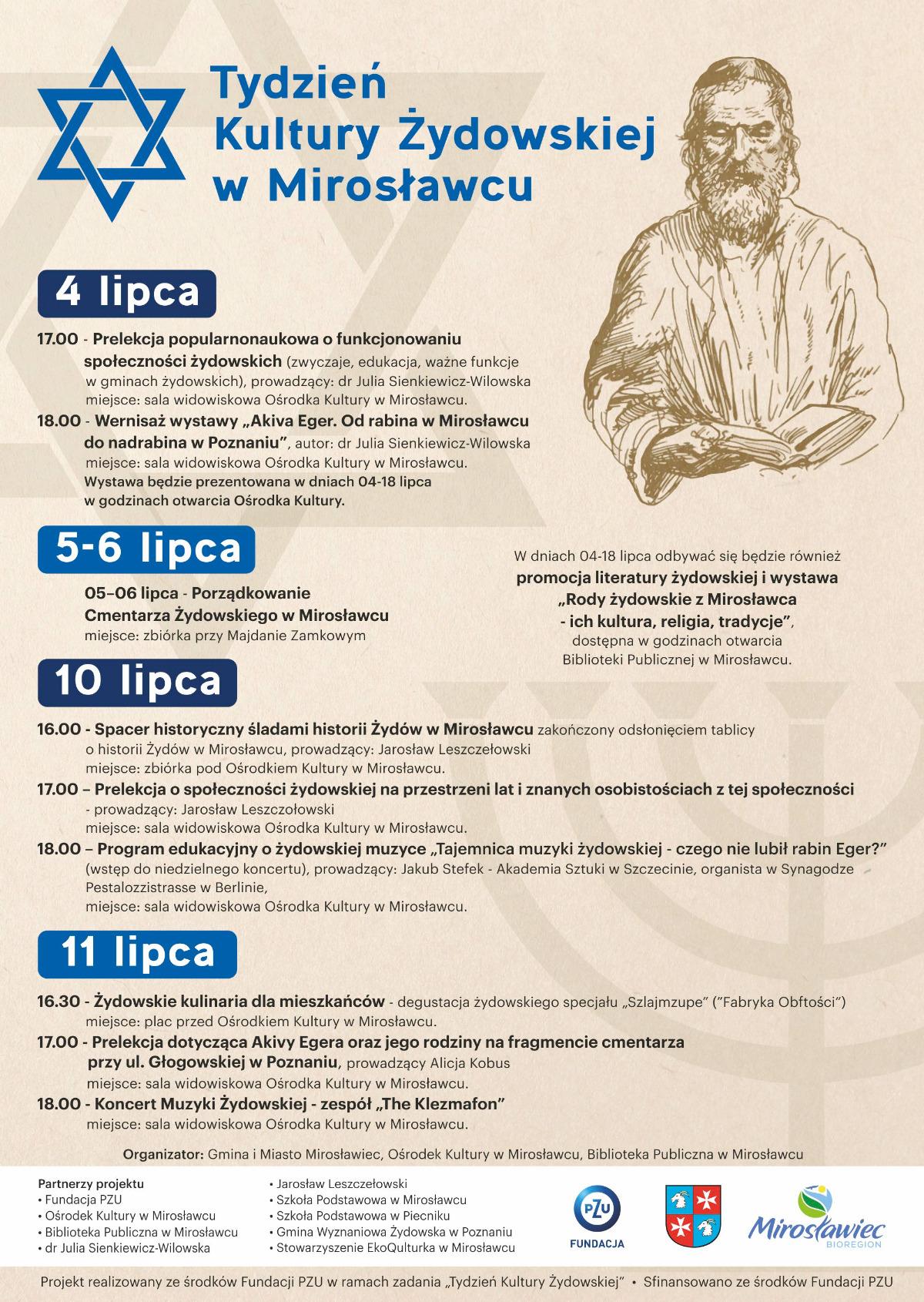 Tydzień Kultury Żydowskiej w Mirosławcu